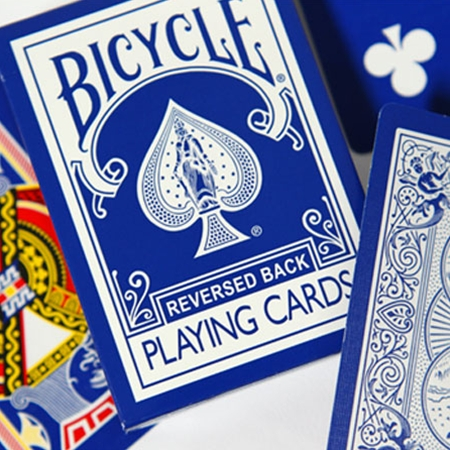 Reversed Back Bicycle Deck - Blue (Blue Ice Deck 2nd Generation